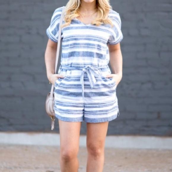 783719ab95c Madewell Dresses   Skirts - Madewell  Perimeter  Striped Romper
